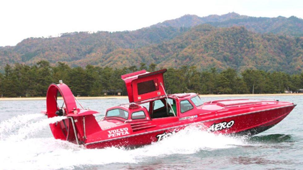 天橋立の傘松観光モーターボート